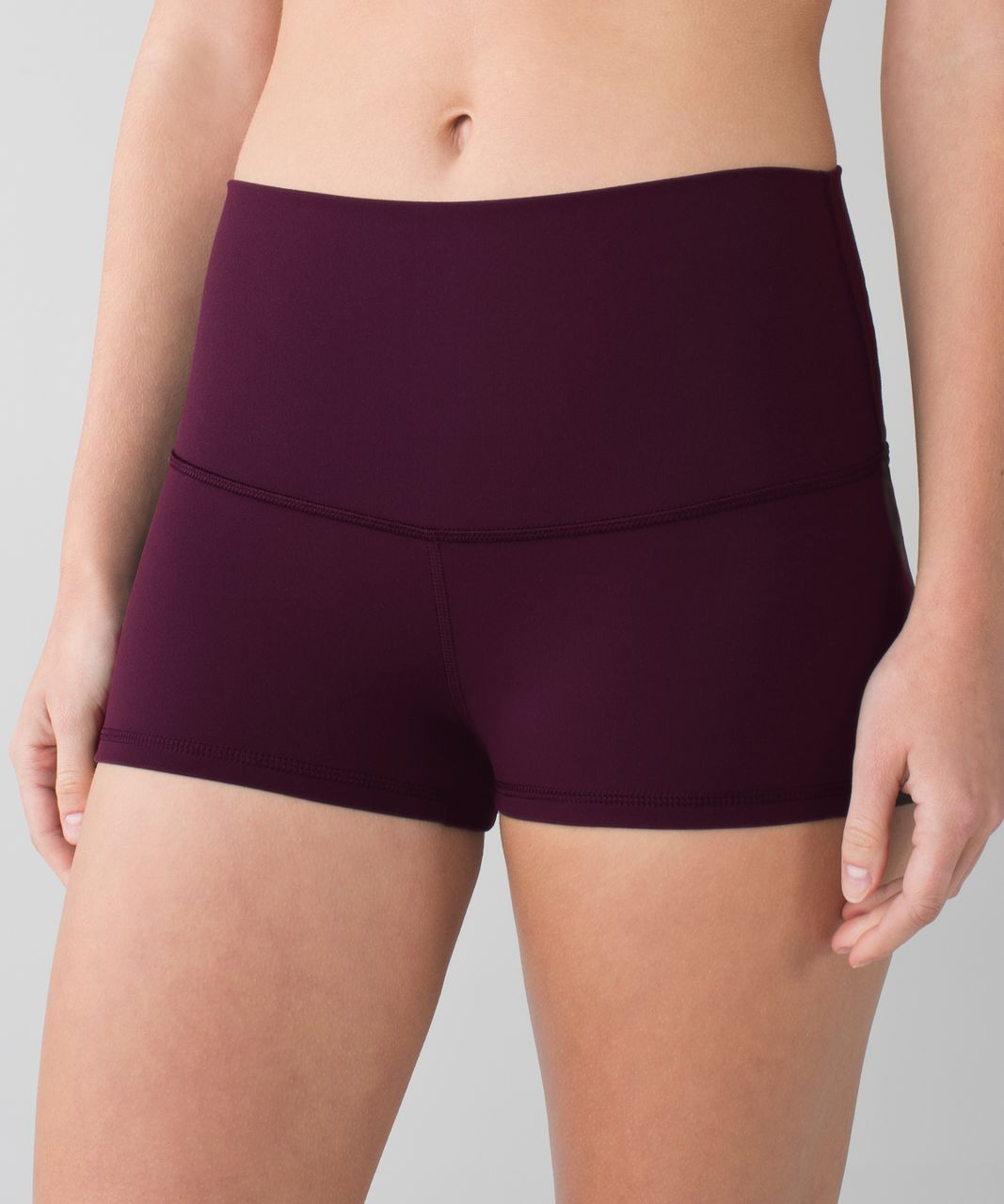 Lululemon Boogie Short *Full-On Luon (Roll Down) - Black Cherry