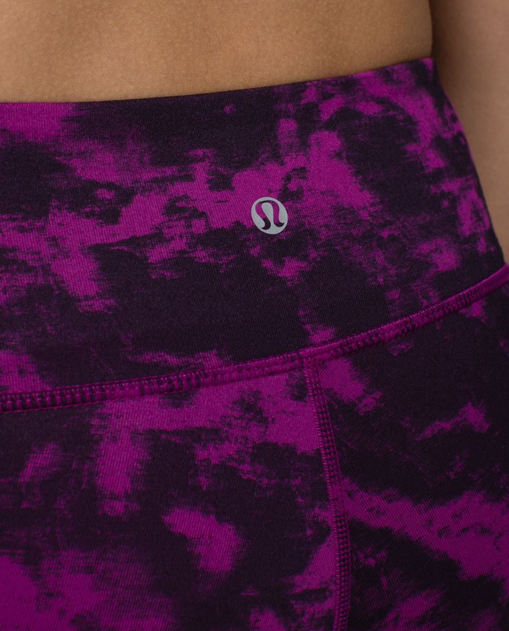 Lululemon Wunder Under Crop II *Full-On Luon - Breezie Regal Plum Black