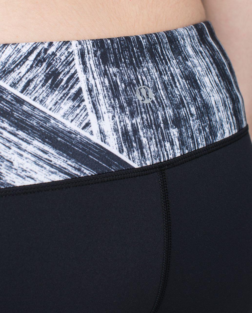 Lululemon Wunder Under Pant *Full-On Luon - Black / Heat Wave White Black