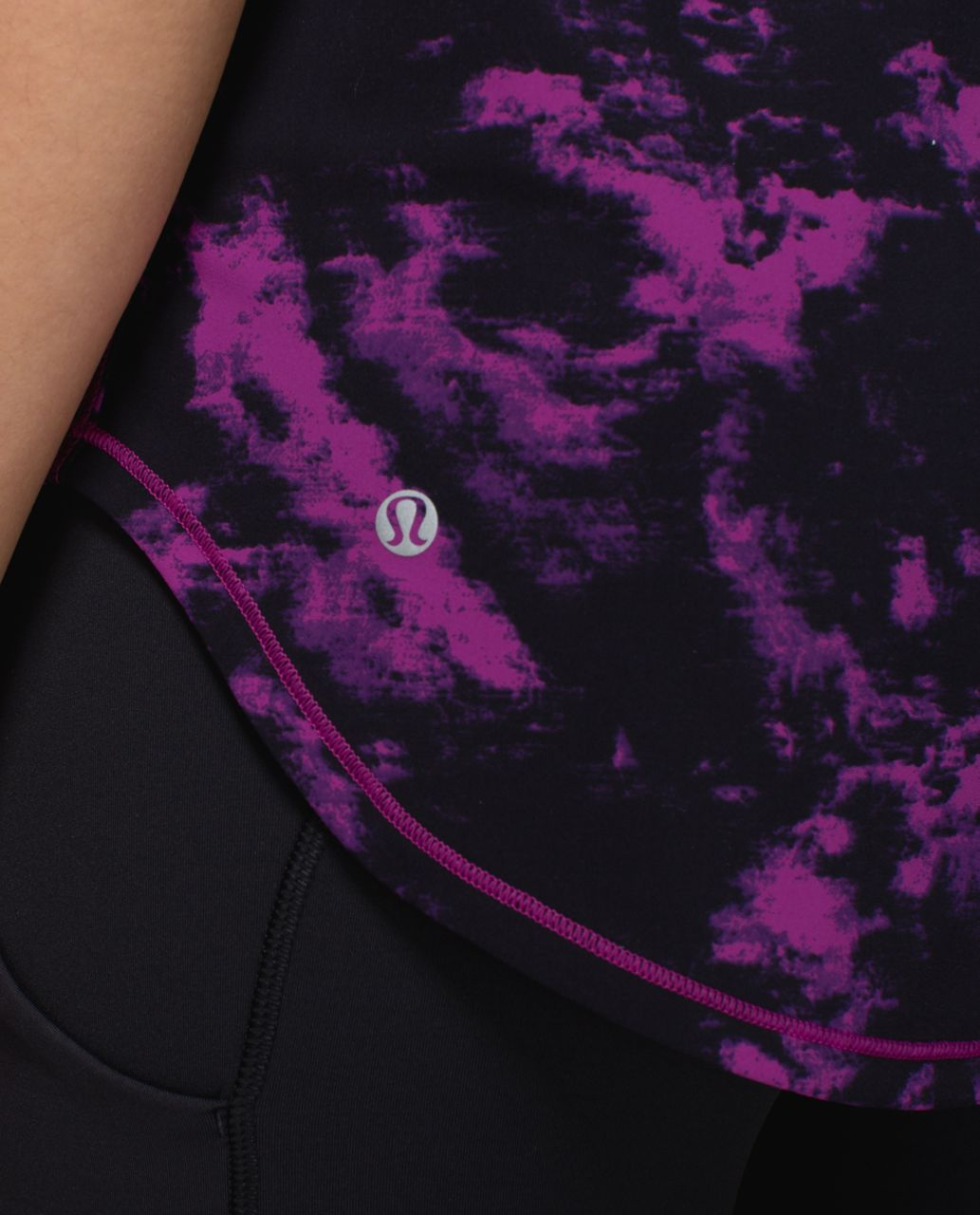 Lululemon Sculpt Tank - Breezie Regal Plum Black / Black