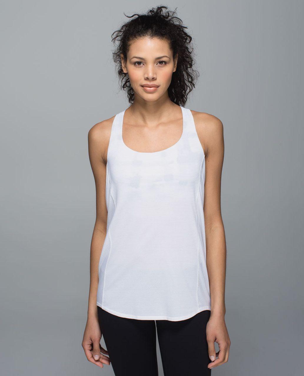 Lululemon Wild Tank - White / Ghost Weave White Black