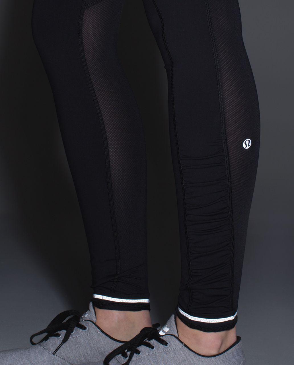 Lululemon Speed Tight III (Mesh) - Black / Heathered Black / Hyper Stripe Clear Mint Zest