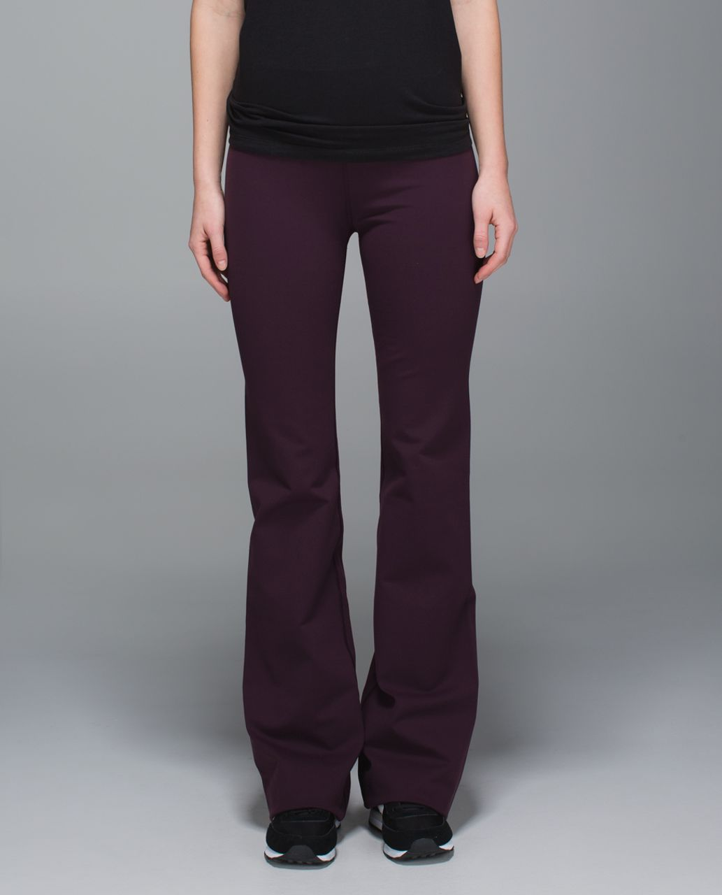 Lululemon Groove Pant II *Full-On Luon (Roll Down - Tall) - Black Cherry / Star Crushed Black Cherry Black
