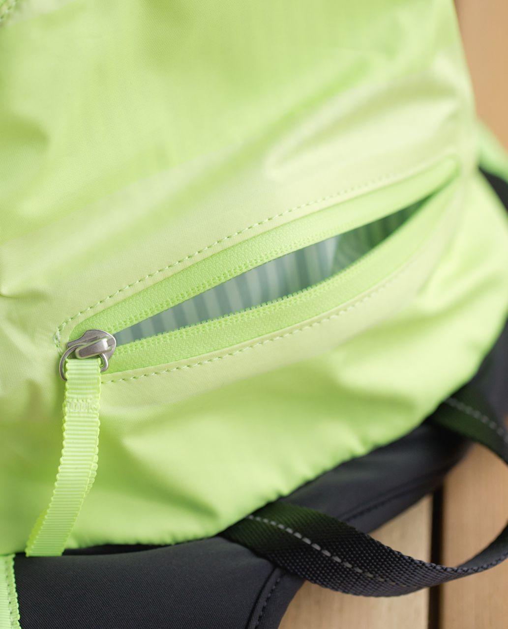 Lululemon Run All Day Backpack - Wide Bold Stripe Clear Mint Zest / Deep Coal