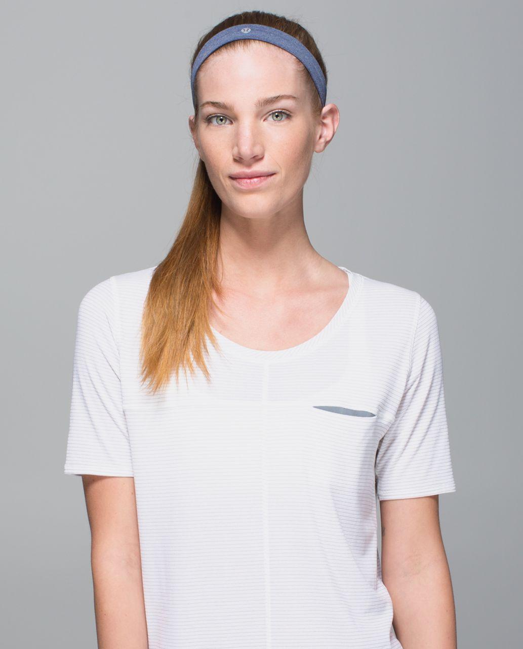 Lululemon Cardio Cross Trainer Headband - Heathered Deep Navy