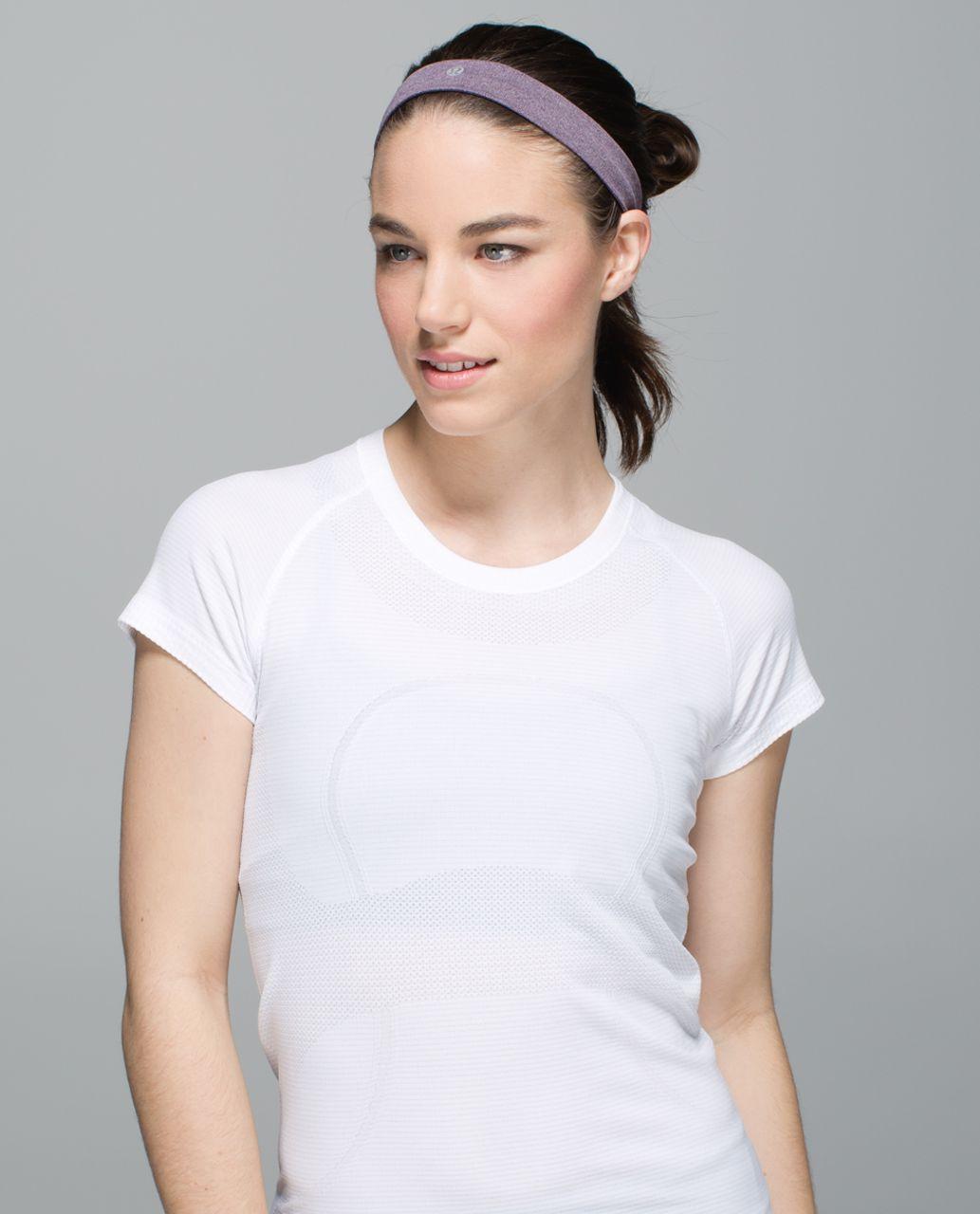 Lululemon Cardio Cross Trainer Headband - Heathered Black Cherry
