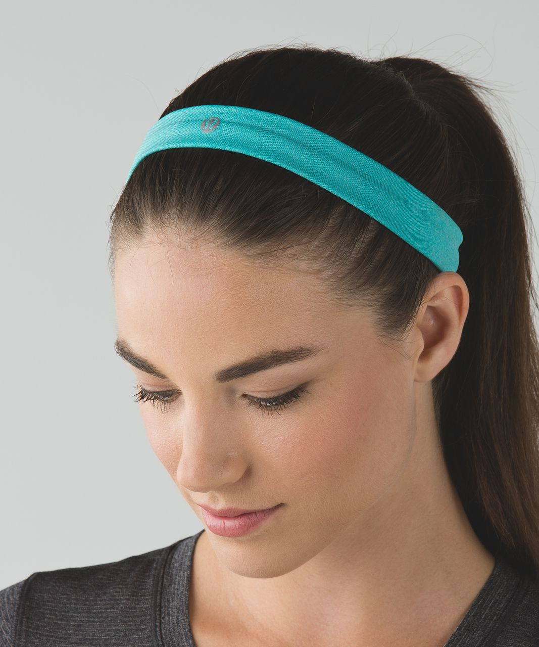Lululemon Cardio Cross Trainer Headband - Heathered Blue Tropics