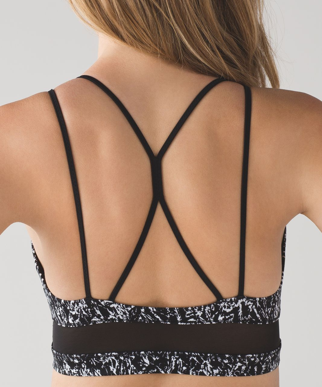 Lululemon Go With The Flow Top - Iced Wave White Black / Black