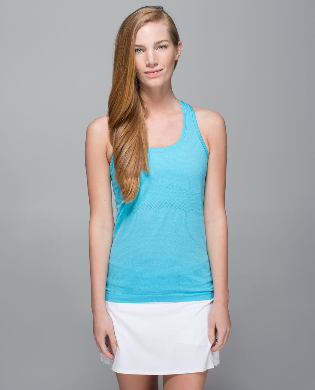 Lululemon Run:  Swiftly Tech Racerback - Heathered Fresco Blue