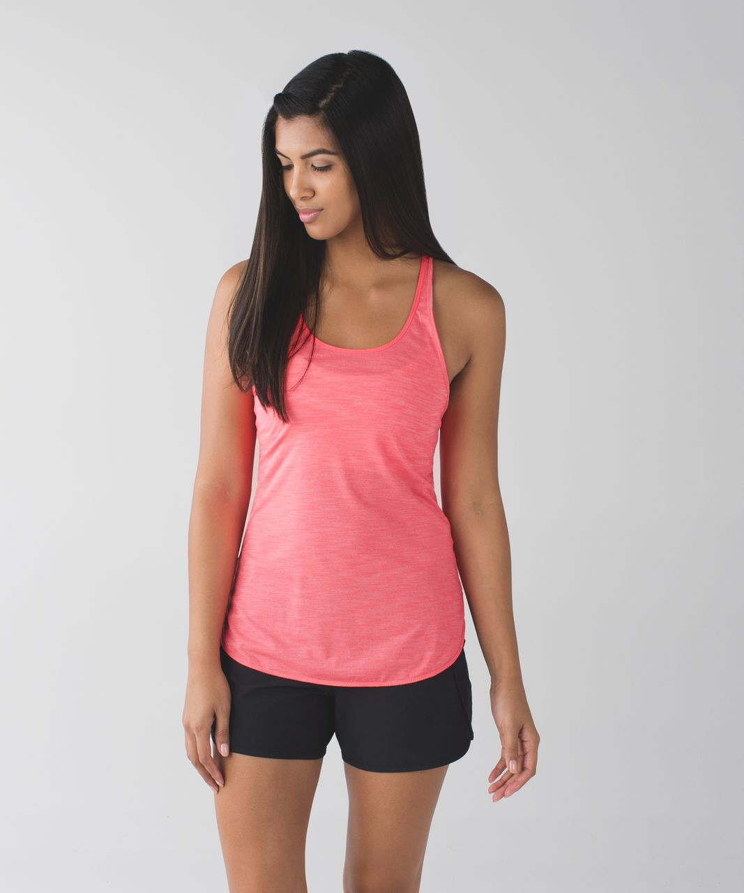 Lululemon What The Sport Singlet - Heathered Electric Coral