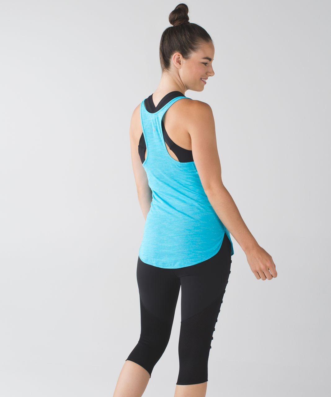 Lululemon What The Sport Singlet - Heathered Fresco Blue