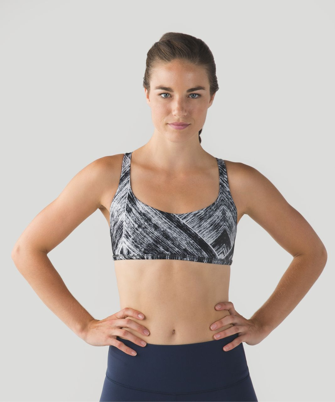 Lululemon Free To Be *Wild - Heat Wave White Black / Regal Plum