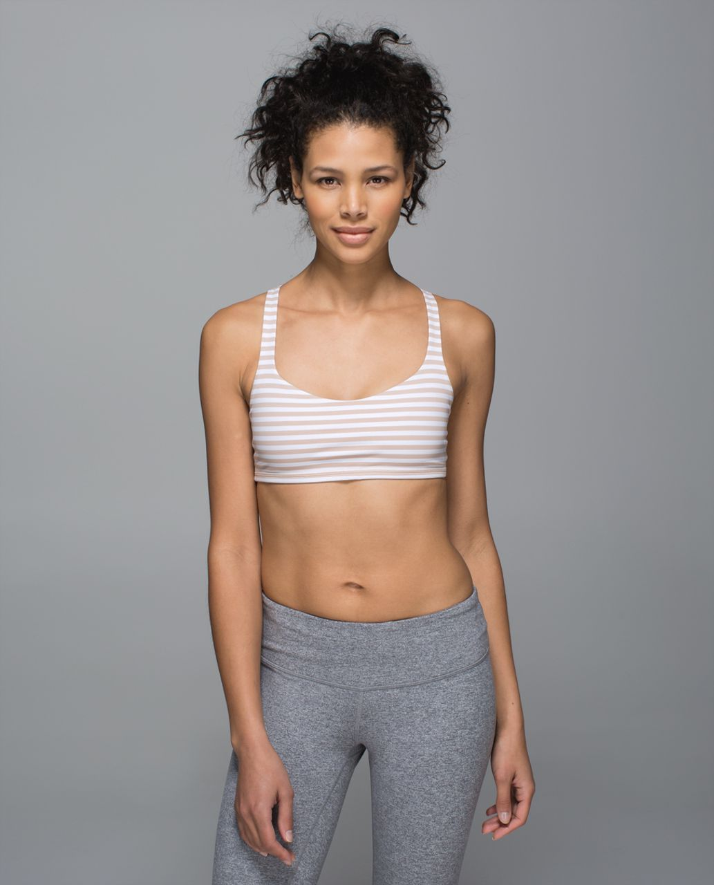 Lululemon Free To Be Bra - Narrow Bold Stripe White Naked / White