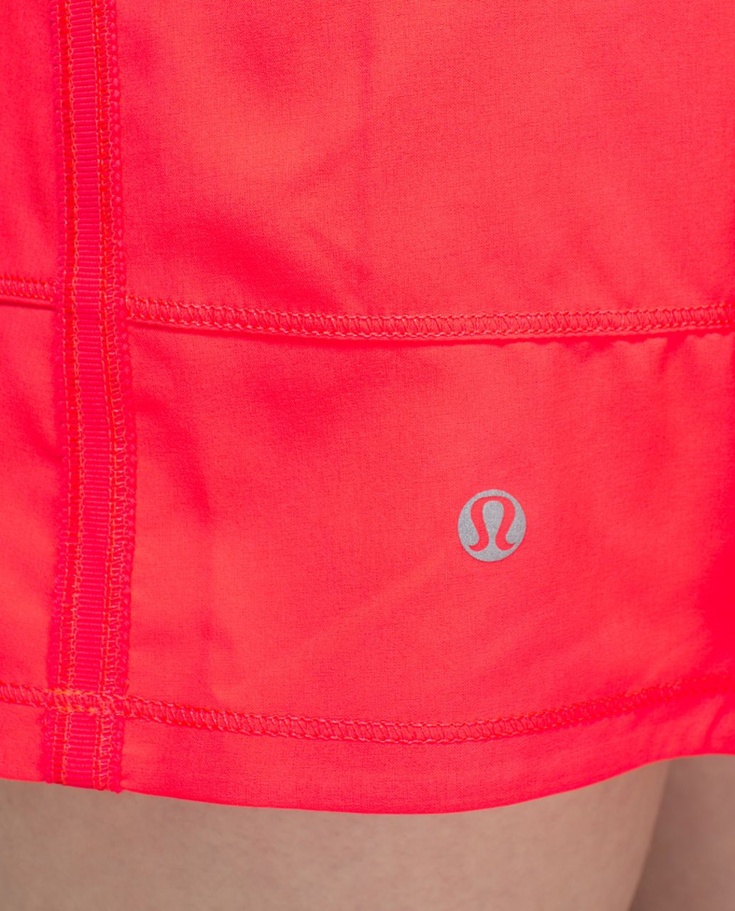 Lululemon Pace Rival Skirt II *4-way Stretch (Regular) - Electric Coral / Quiet Stripe Butter Pink Electric Coral