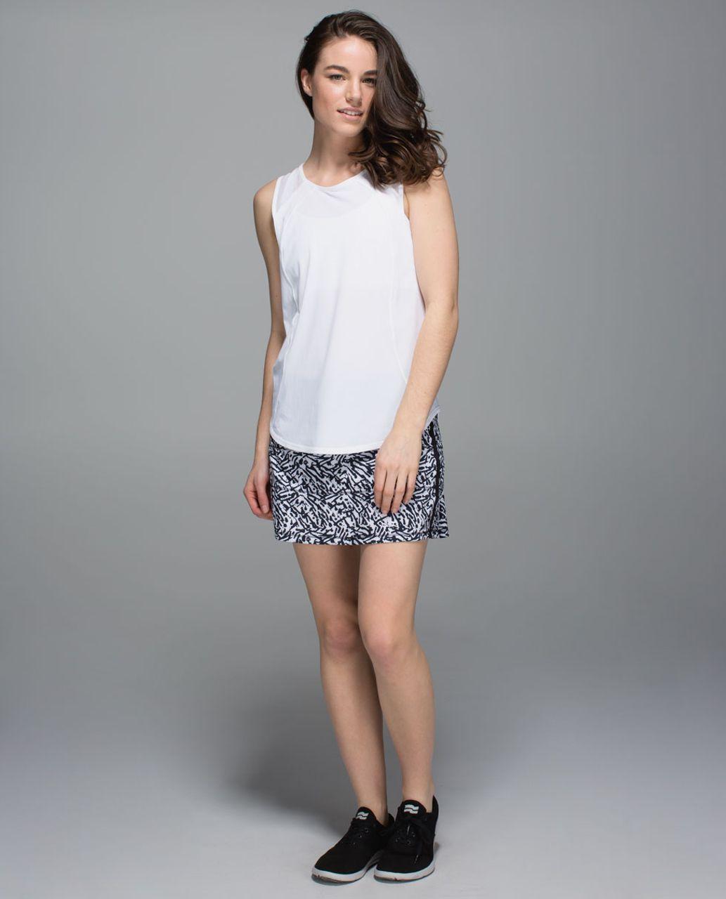 Lululemon Pace Rival Skirt II *4-way Stretch (Tall) - Brushed Animal White Black / Black