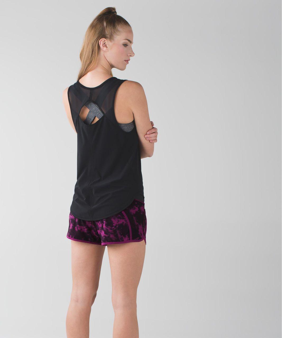 Lululemon Run Times Short *4-way Stretch - Breezie Regal Plum Black / Black / Regal Plum