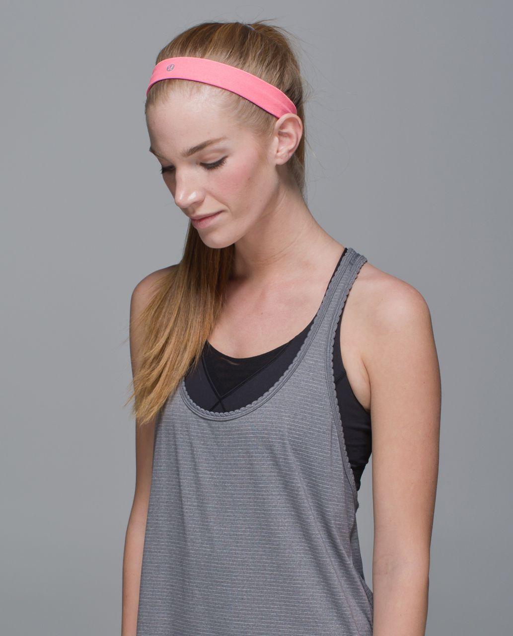 Lululemon Cardio Cross Trainer Headband - Heathered Neon Pink