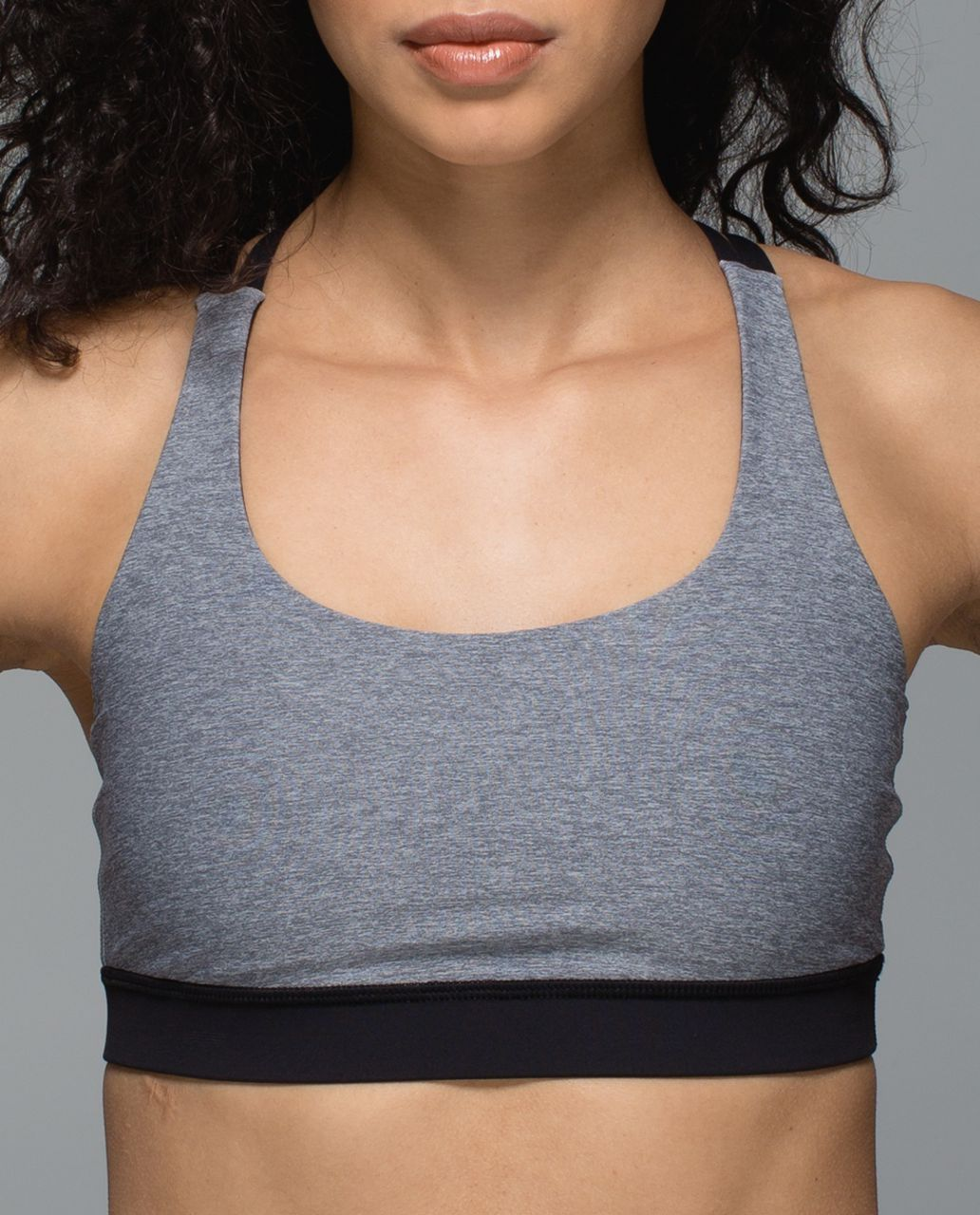Lululemon Energy Bra - Heathered Slate / Black