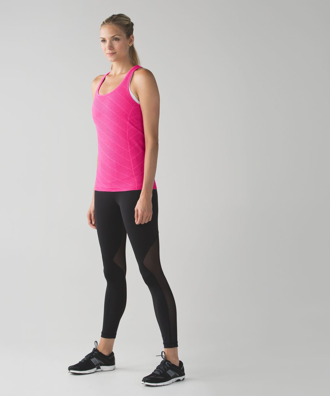 Lululemon Run:  Swiftly Tech Racerback - Heathered Jewelled Magenta