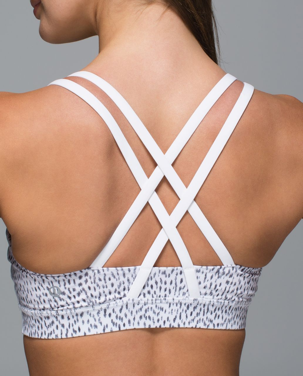 Lululemon Energy Bra - Dottie Dash White Black / White
