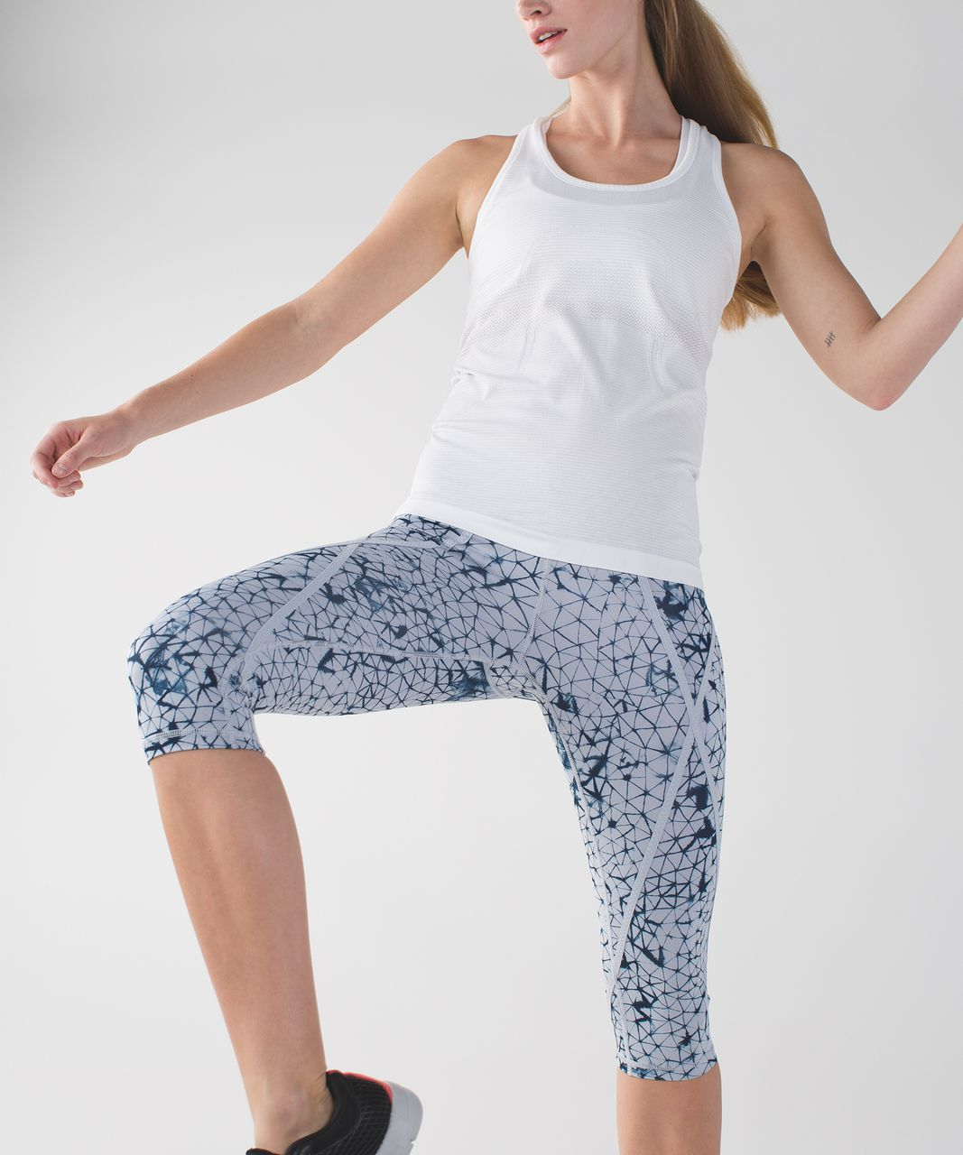 Lululemon Pedal Pace Crop - Star Crushed Silver Fox Deep Navy