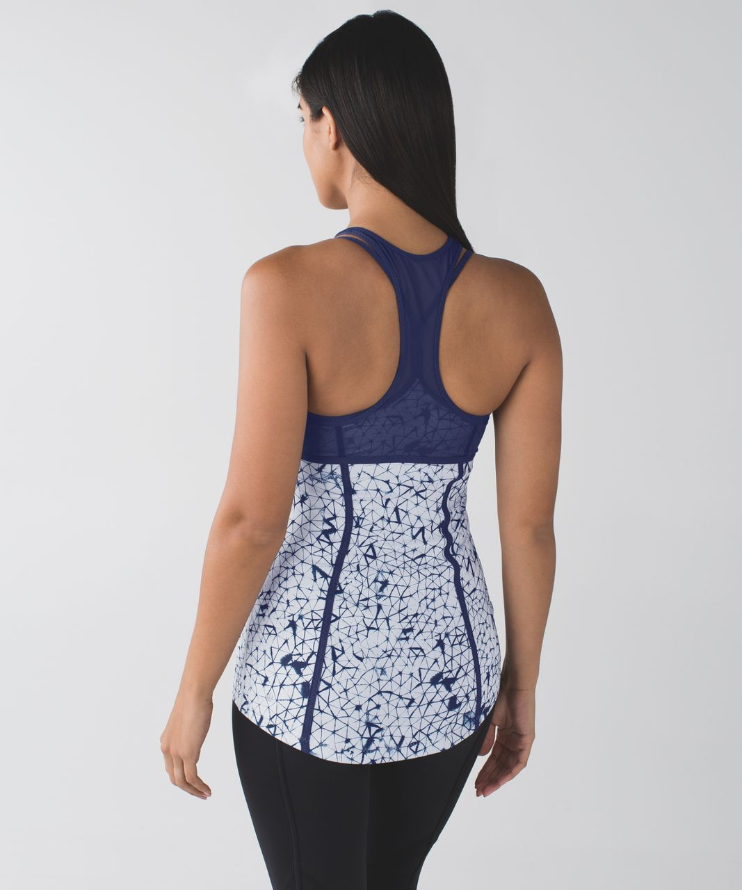 Lululemon Pedal Pace Tank - Star Crushed Silver Fox Deep Navy / Deep Navy
