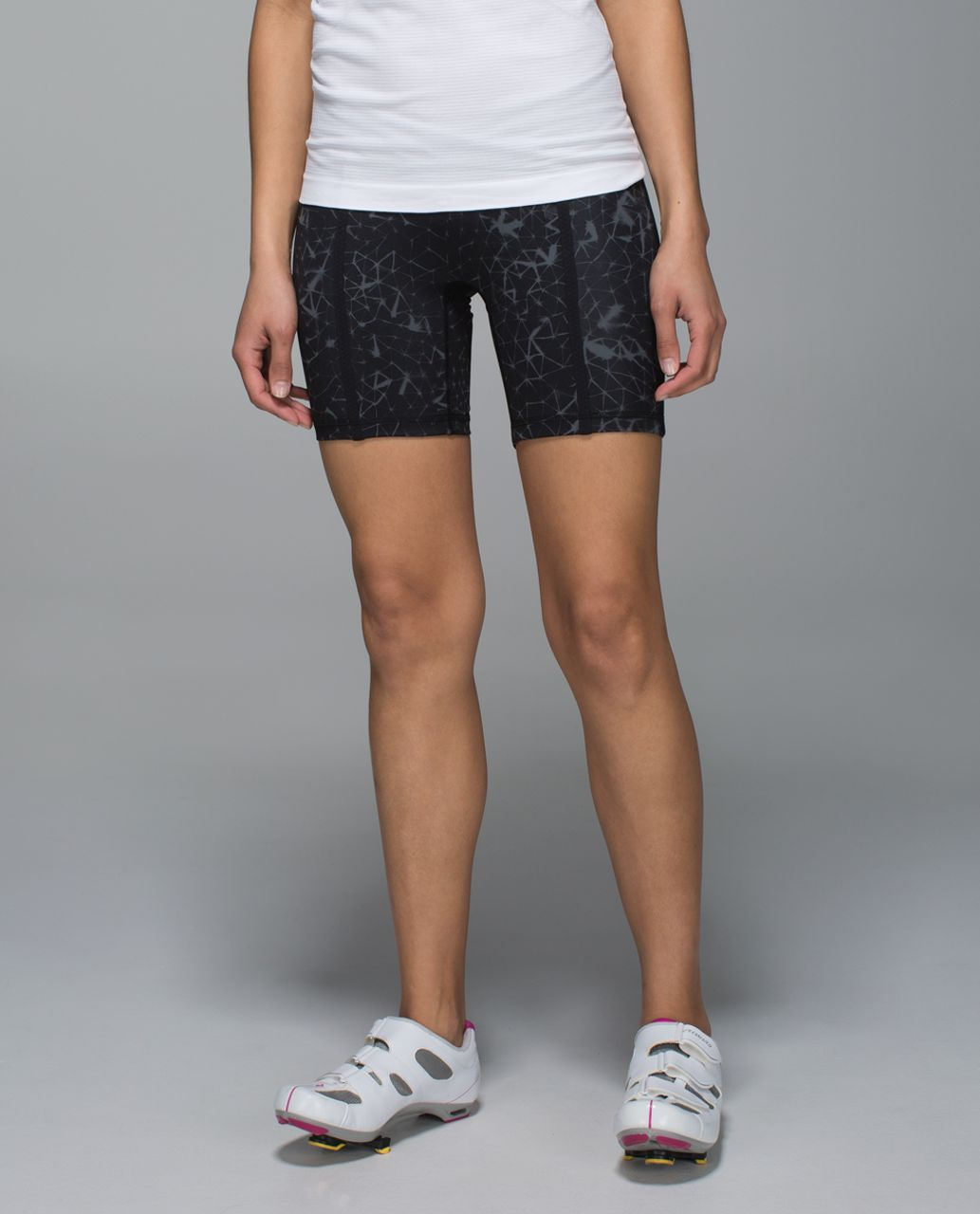 Lululemon Pedal Pace Short - Star Crushed Coal Black / Black