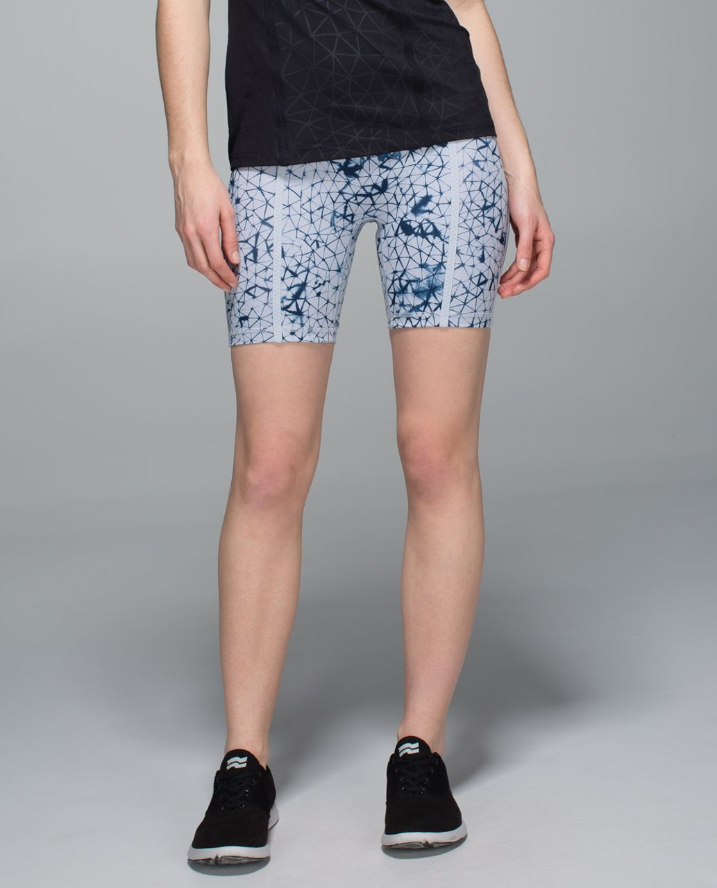 Lululemon Pedal Pace Short - Star Crushed Silver Fox Deep Navy / Deep Navy