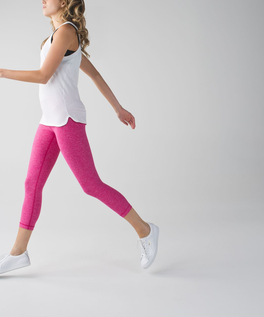 Lululemon Wunder Under Crop II - Heathered Jewelled Magenta