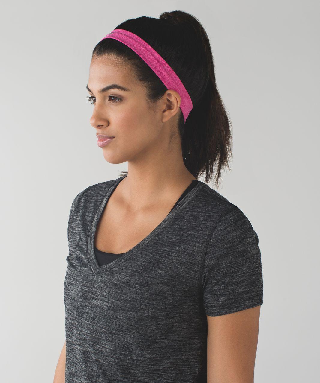 Lululemon Cardio Cross Trainer Headband - Heathered Jewelled Magenta