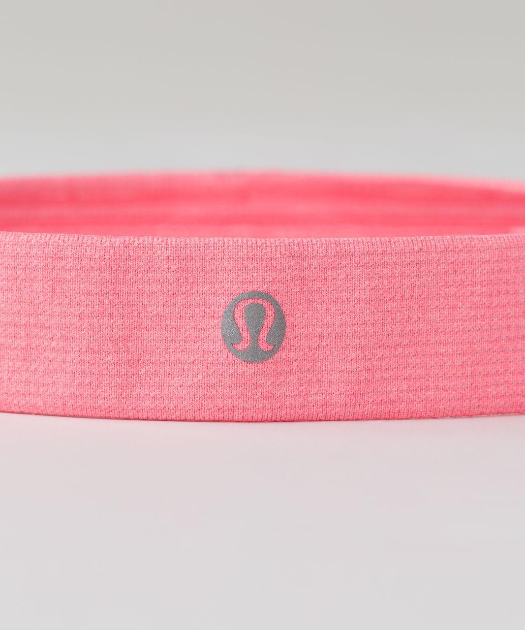 Lululemon Cardio Cross Trainer Headband - Heathered Electric Coral