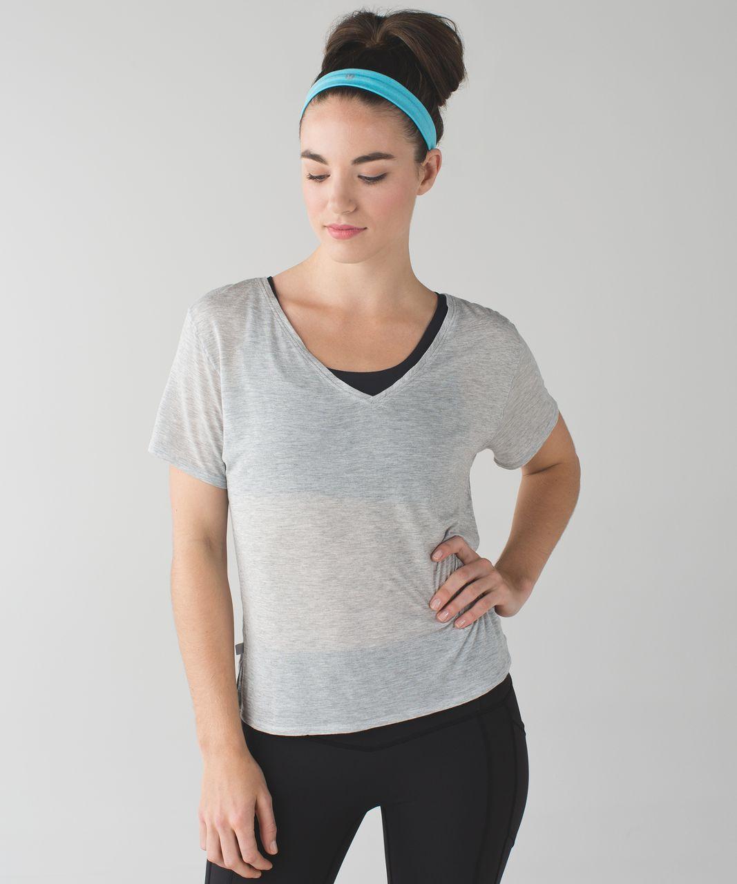 Lululemon Cardio Cross Trainer Headband - Heathered Fresco Blue