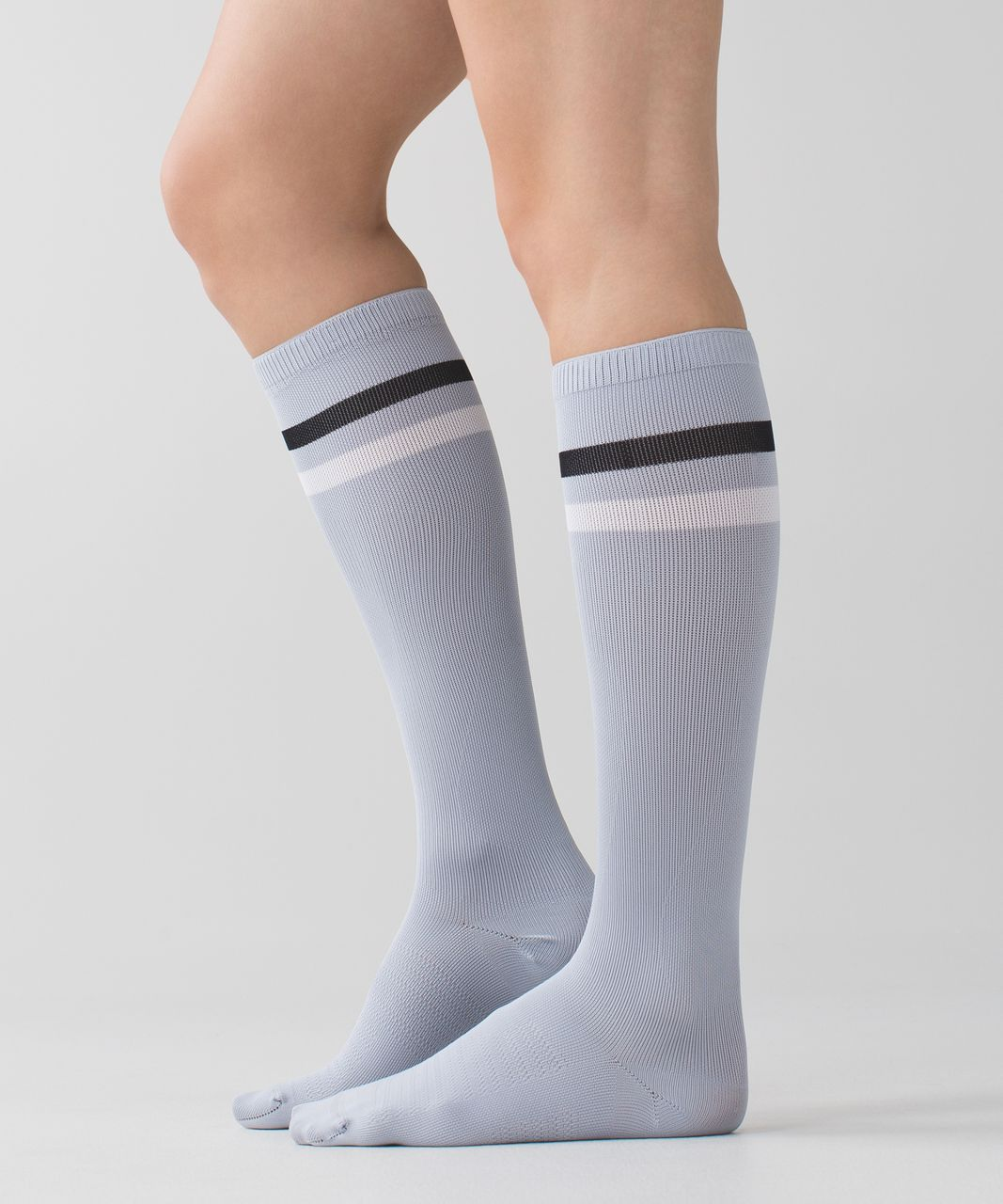 Lululemon Women's Keep It Tight Sock - Varsity Stripe Silver Fox White Black