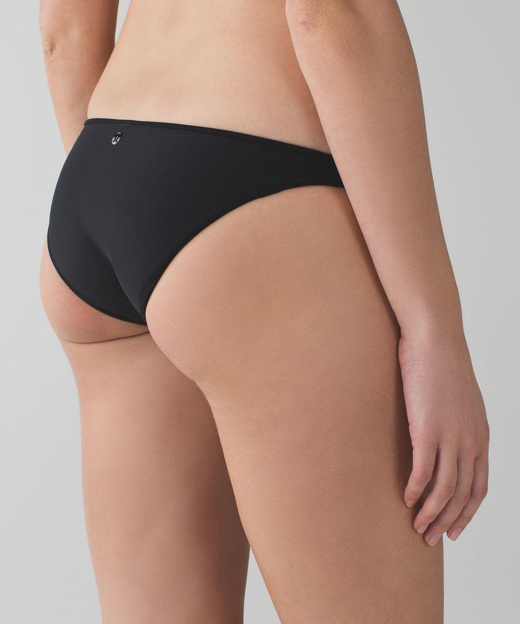 Lululemon Water:  Surf To Sand Bikini - Black / Narrow Bold Stripe Printed White Black