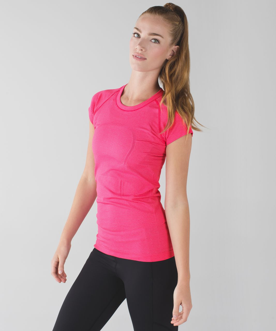 Lululemon Swiftly Tech Short Sleeve Crew - Heathered Jewelled Magenta (First Release)