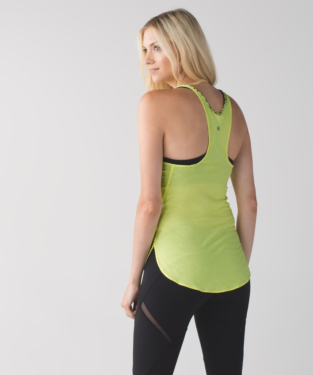 Lululemon What The Sport Singlet - Heathered Clarity Yellow