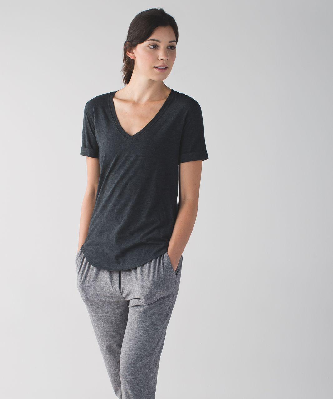 Lululemon Love Tee II - Heathered Black