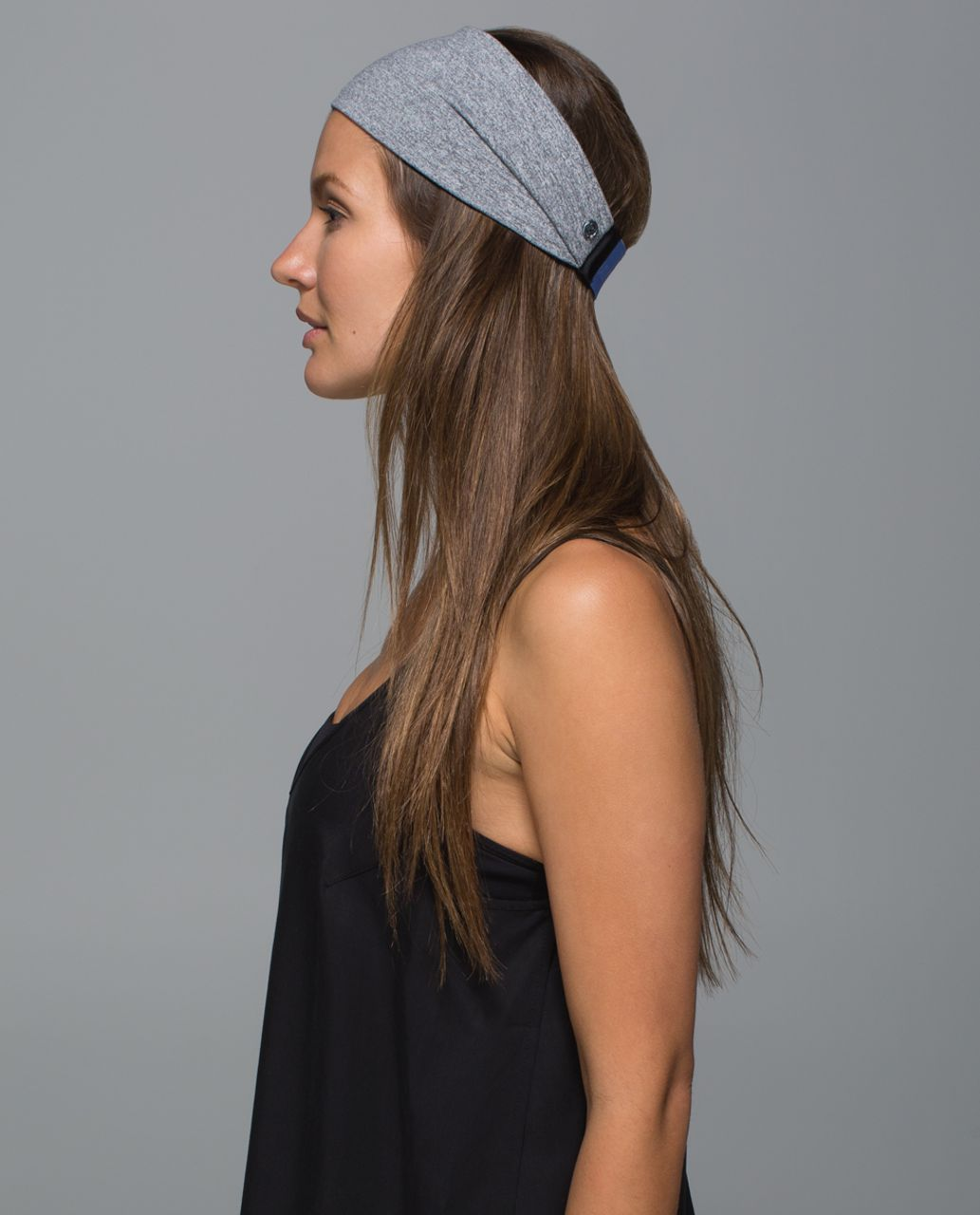 Lululemon Fringe Fighter Headband - Heathered Slate / Lullaby