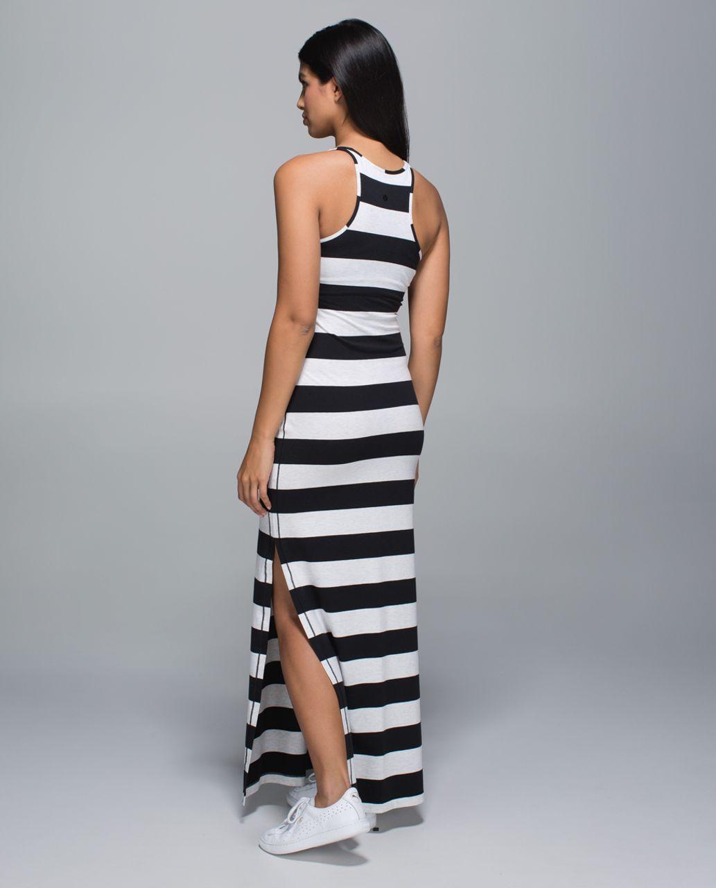 3bde7e064d Lululemon Refresh Maxi Dress - Black   White - lulu fanatics