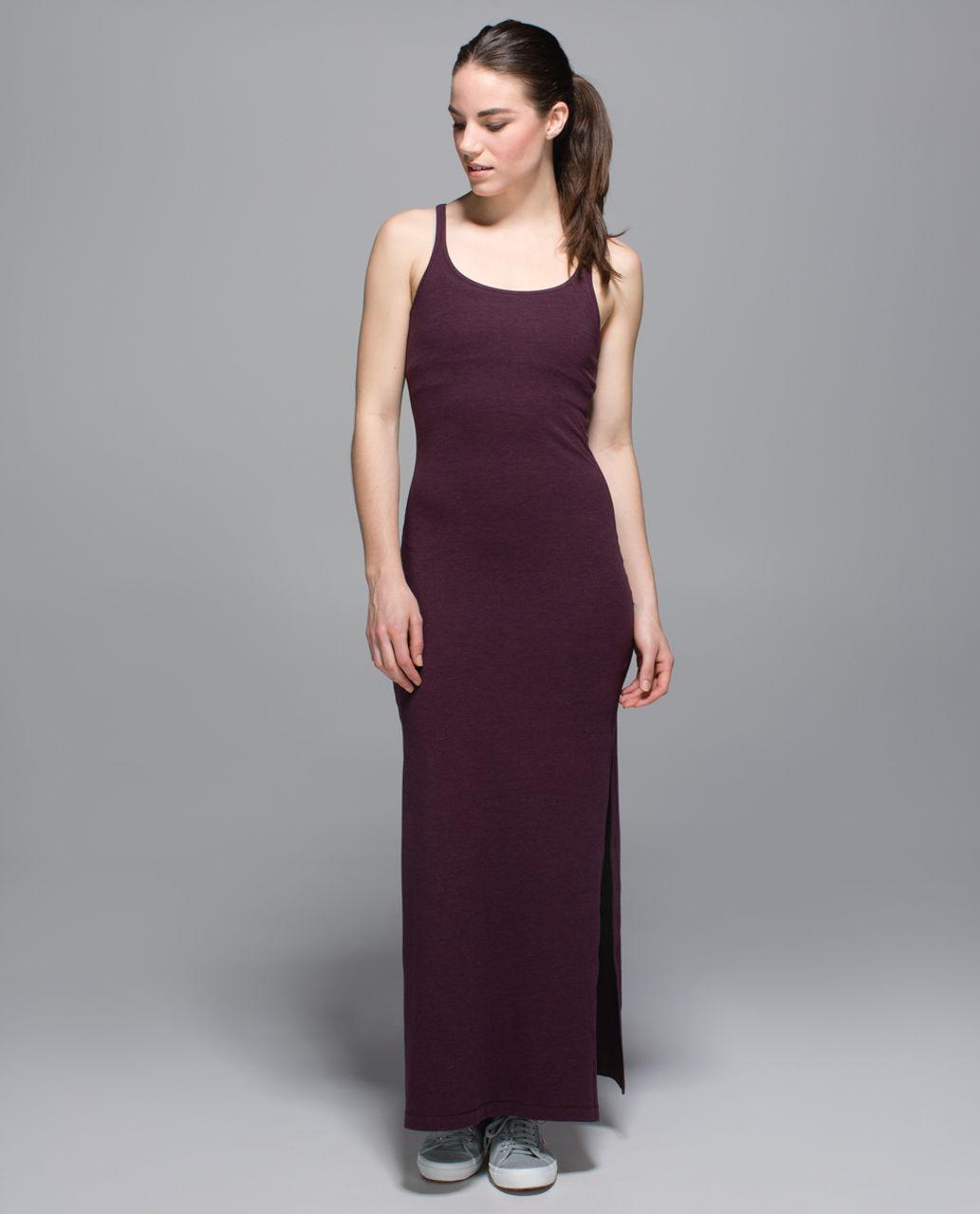 d32b31de8b Lululemon Refresh Maxi Dress - Heathered Bordeaux Drama   Black Cherry -  lulu fanatics