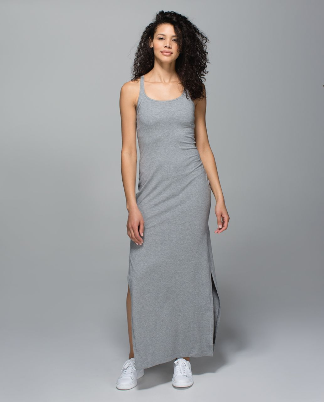 ec275d534de Lululemon Refresh Maxi Dress - Heathered Medium Grey - lulu fanatics