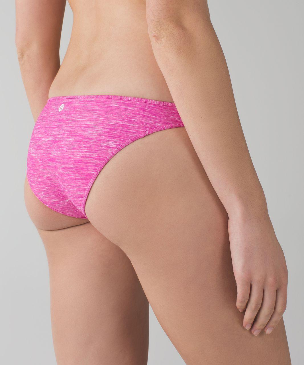 Lululemon Water:  Surf To Sand Bikini Bottom - Mini Oki Heathered Print White Pow Pink Light / White