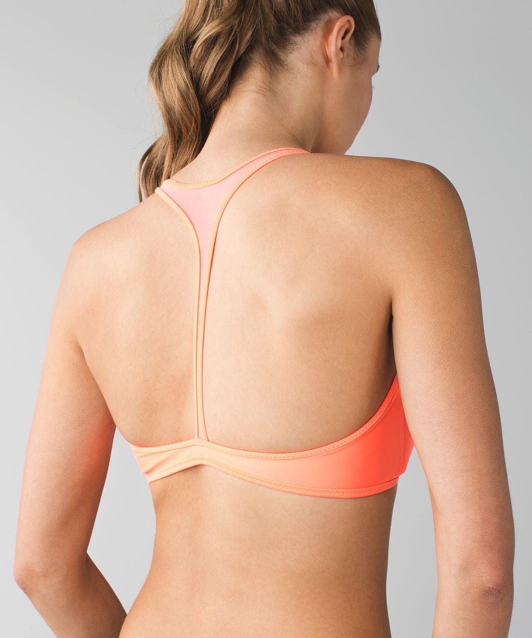 Lululemon Water:  Salty Swim Sport Top - Grapefruit / Mini Oki Heathered Print Silver Spoon Slate