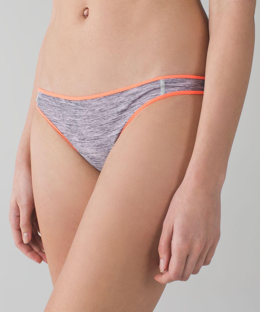 Lululemon Water:  Surf To Sand Bikini Bottom - Grapefruit / Mini Oki Heathered Print Silver Spoon Slate
