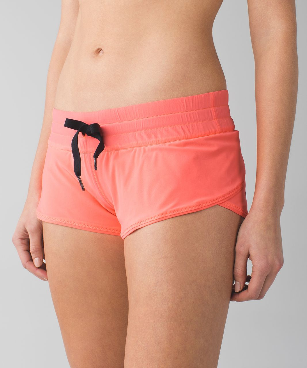 e73ea7d76a Lululemon Water: Surf Short - Grapefruit / Heathered Texture Printed Greyt  Deep Coal - lulu fanatics