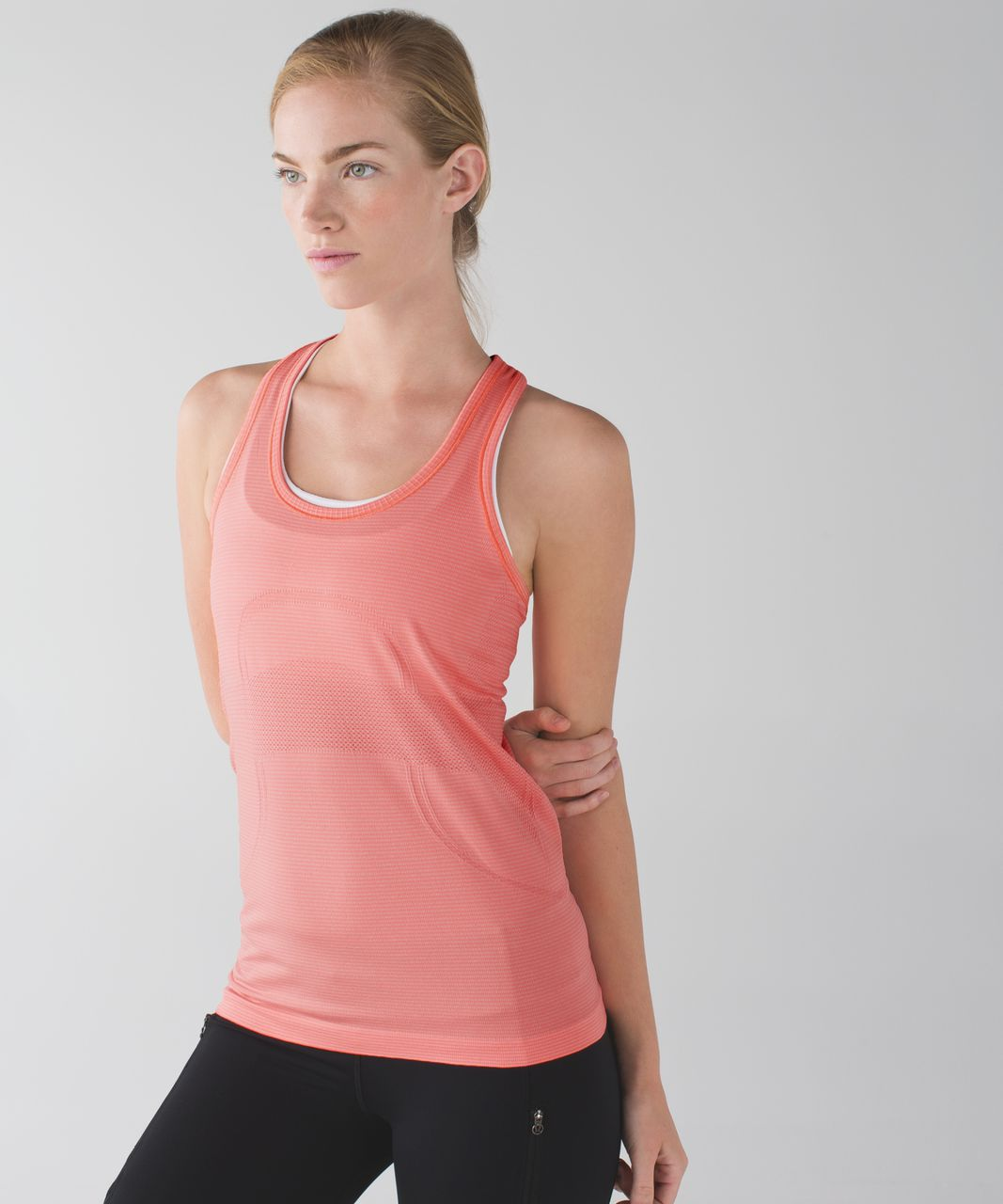 Lululemon Swiftly Tech Racerback - Heathered Grapefruit (First Release)