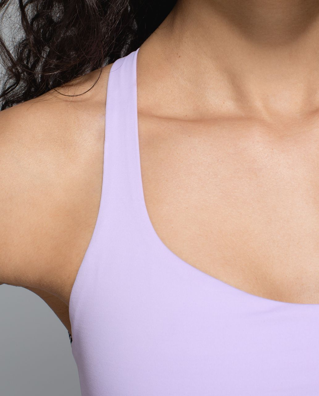 Lululemon Free To Be Bra (Wild) - Pretty Purple / Gingham Luon White Black