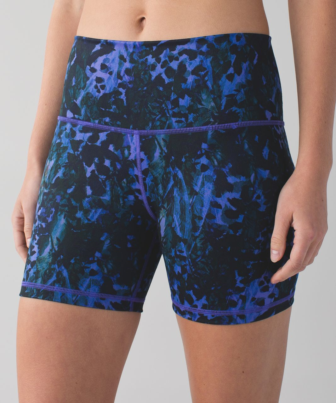 Lululemon Groove Short II (Roll Down - Regular) - Floral Sport Backdrop Iris Flower Multi