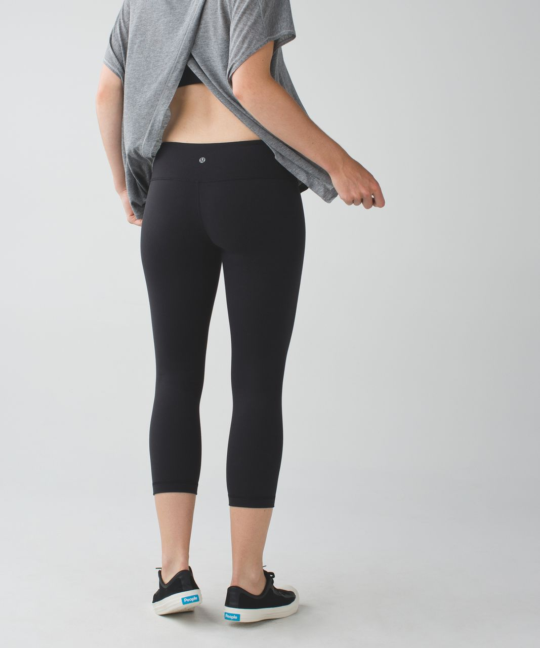 Lululemon Wunder Under Crop II *Full-On Luon - Black