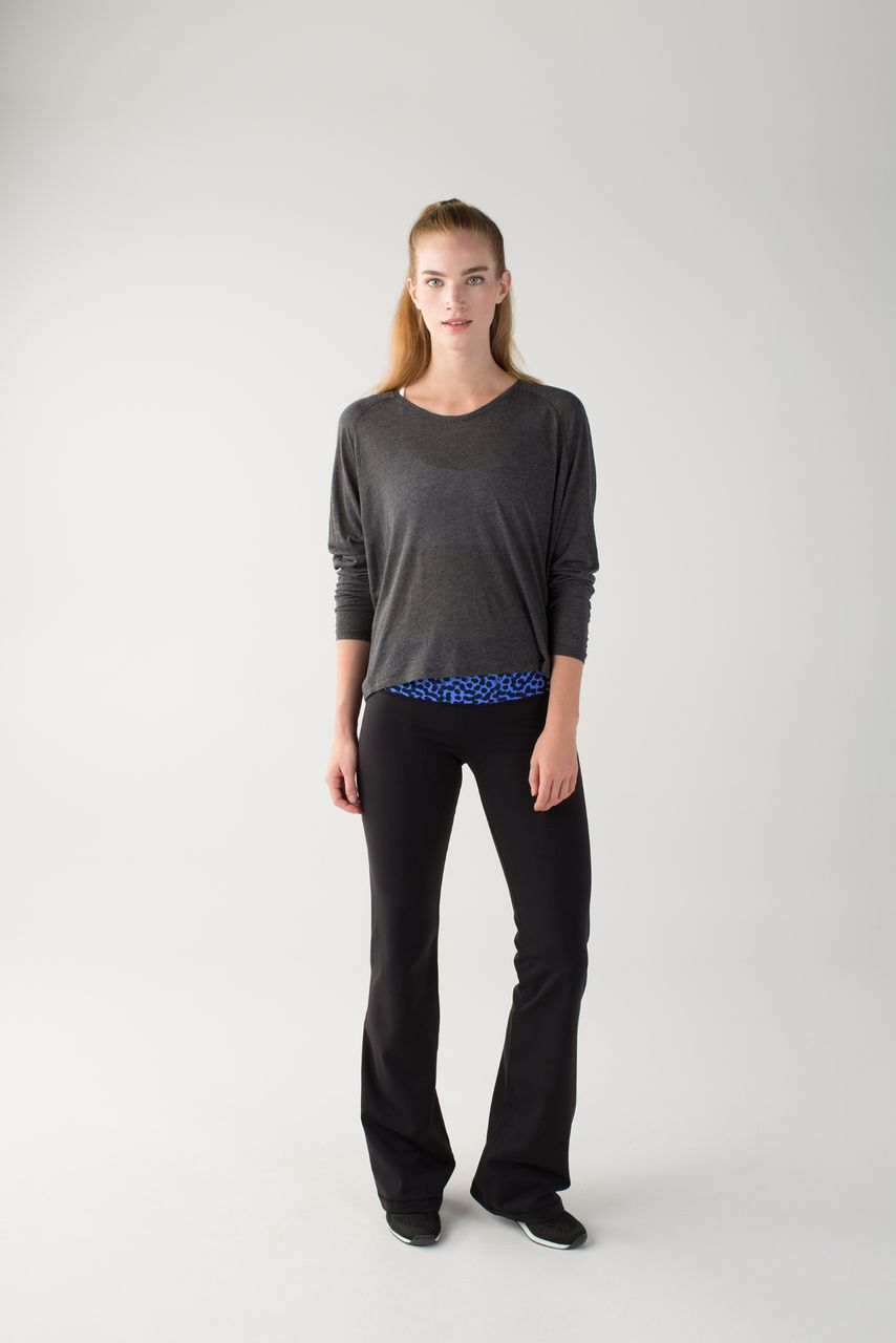 Lululemon Groove Pant II *Full-On Luon (Roll Down - Tall) - Black / Ace Spot Lullaby Black